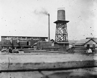 An Early view of the Ybor City Novelty Works and the Edenfield and Petton Sawmill.