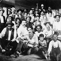 Strikers during the Scale Strike which lasted for sixteen weeks and was  later won by the cigar makers.