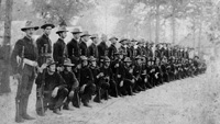 The 5th Maryland Infantry in Tampa during the Spanish American War, 1898.
