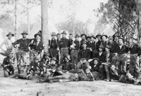 Soldiers pose for a photo in camp before embarkment to Cuba.