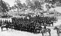 United States Cavalry men during maneuvers in Port Tampa.