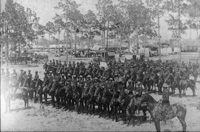 American cavalrymen readying for maneuvers near Ybor City.
