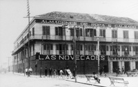 A very Early view of the Las Novedades Restaurant and 7th Avenue at 15th Street.