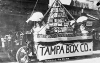 A Parade float for the Tampa Box Company.