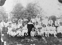 Students and faculty pose for a picture at St. Josephs Convent Academy School.