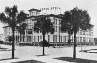 A View of the Desoto Hotel on Zack and Marion Streets.