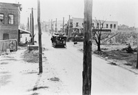 A View looking on 19th Street looking west on 12th Avenue after the Ybor City Fire of 1908.