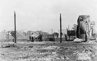 A View of the aftermath of the Ybor Fire of 1908.