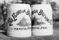 Beer mugs from the Florida Brewing Company