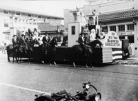 The West Tampa Buisness Association Float during a parade.