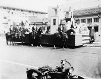 The West Tampa Business Association in a 1928 parade.