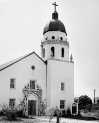 A View of San Marcos Methodist Church.