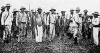 Local cigar factory volunteers for the Spanish American War.