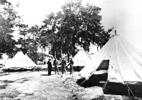 A Military encampment for local Cuban Americans joining the war to independence in Cuba.