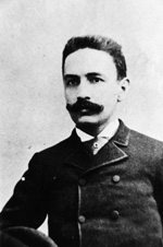 A Portrait of Alfonso Garcia who came to Tampa in 1886 and opened Gonzales Mora Cigar Company.
