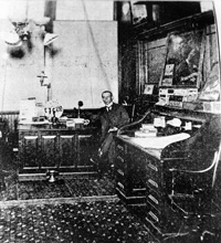 Predient William J. Seidenberg in his office at the Seidenberg Cigar Factory.