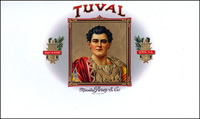 A Inner lib label for the Tuval brand of the Marcelino Perez Cigar Company.