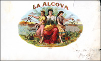 The La Alcova label from Argueles, Lopez, and Brothers Cigar Company.