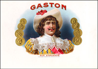 The Cigar label for the Gaston brand of cigars by Arguelles, Lopez, and Brothers Cigar Company