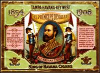 A El Principe de Gales label from the  Vicente Martínez Ybor Cigar Factory.