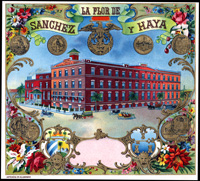 The Le Flor de Sanchez y Haya  cigar label
