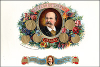 The La Flor De Salvini cigar label from Sanchez and Haya.
