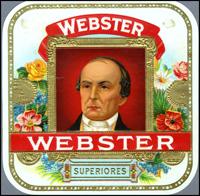 The Webster cigar lael of Pendas  and Alvarez  (Lonzano).