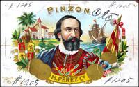 The Progressive proof book for the  Pinzon cigar label of Marcelino Perez Cigar Company.