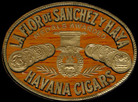 The Nail tag for La Flor de Sanchez y Hay brand of Sanchez and Haya Cigar Company.