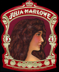 The Outer label of Julia Marlowe for Corral ,Wodisky and Company.