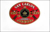A Nail tag cigar label for the San Carlos Cigar Company.