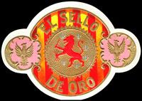 The El Sello De Oro cigar label.