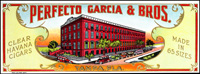 The Inner lid label for Perfecto Garcia and Brothers.