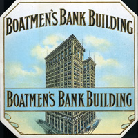The Boatman's Bank Building cigar label for Graddiaz-Annis and Company