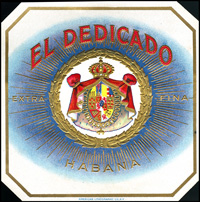 El Dedicado, the cigar label from Cuesta Rey and Company.