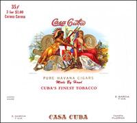 The Casa Cuba label of Z Garcia and Company.