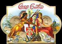 The Outer cigar label of Casa Cuba a Z. Garcia and Company label.