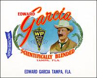 The Edward Garcia cigar label for the Edward Garcia Cigar Company.