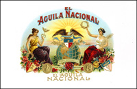 El Aguila Nacional, a cigar label for Cuesta Rey and Company.