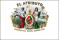 El Atributo, A cigar label for Fenandez Bros. , Tampa, Fla.