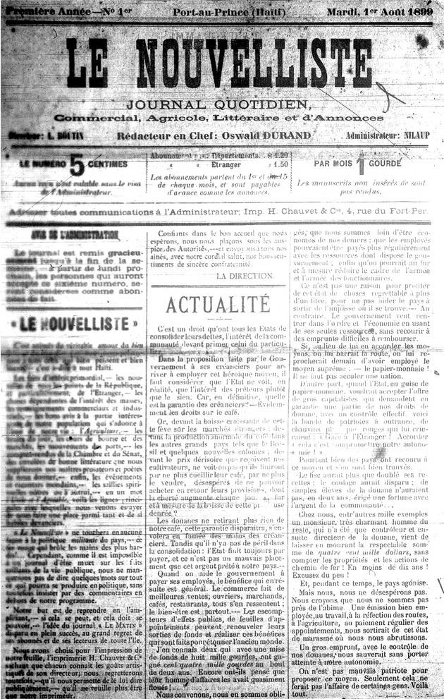 Le Nouvelliste - Page 1