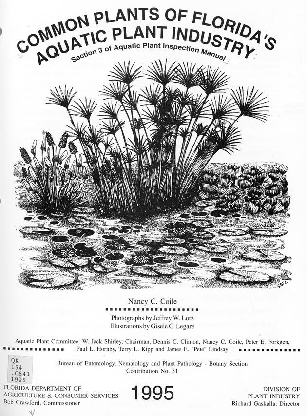 Common plants of Florida's aquatic plant industry