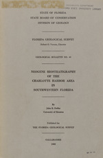 Neogene biostratigraphy of the Charlotte Harbor area in southwestern Florida ( FGS: Bulletin 43)