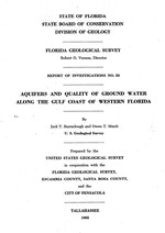 Aquifers and quality of ground water along the gulf coast of Western Florida ( FGS: Report of investigations 29 )