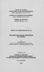 The Sand and gravel resources of Florida ( FGS: Report of investigation 90 )