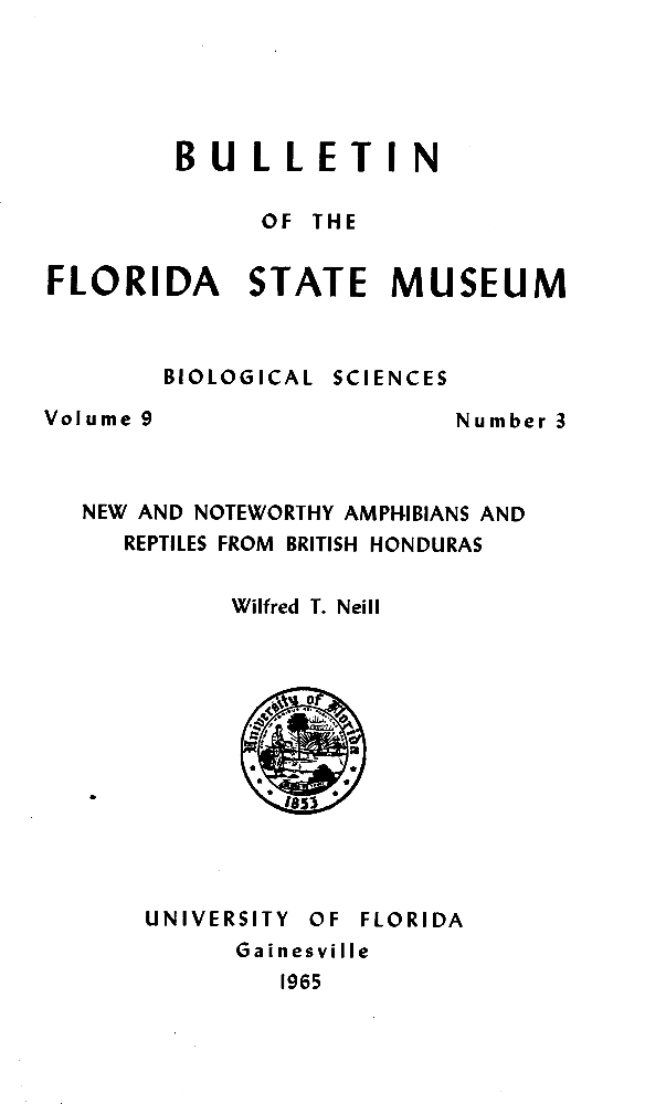 New and noteworthy amphibians and reptiles from British Honduras - Page 75