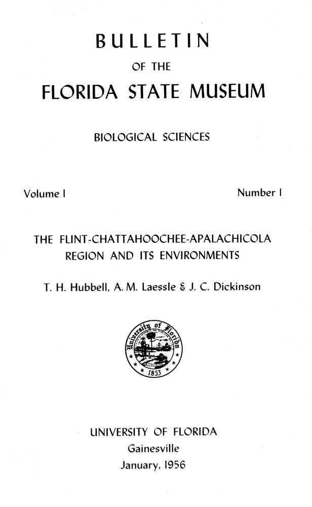 The Flint-Chattahoochee-Apalachicola region and its environments - Cover 1