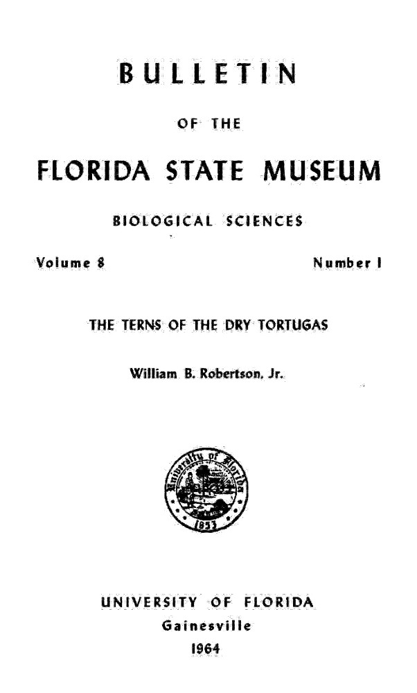 The terns of the Dry Tortugas - Title Page
