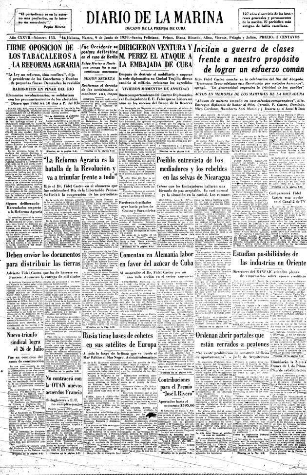 Diario de la marina - Pagina A 1
