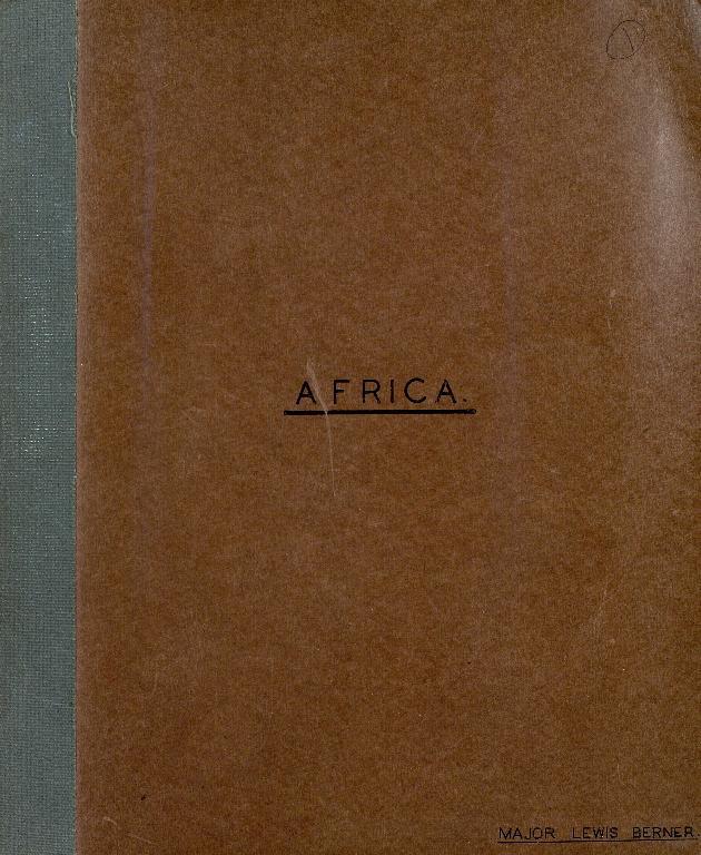 Lewis Berner Africa Scrapbook Album 1 - Page 1
